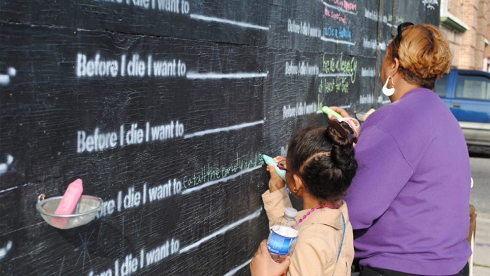"""Before I Die"" by Candy Chang"
