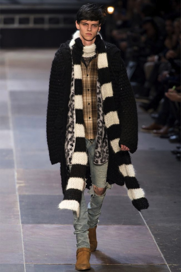 hedi slimane debuts saint laurent mens collection life