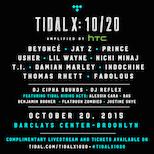 , TIDAL X: 10/20, Life+Times
